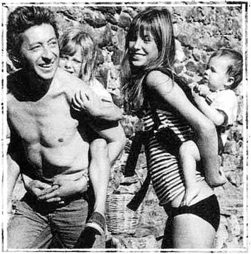 Serge Gainsbourg, Jane Birkin, Kate Barry & Charlotte Gainsbourg