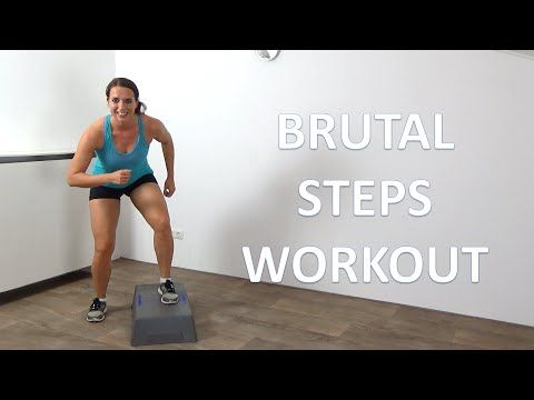 10 Minute Brutal Cardio Step Up Workout – Intense Cardio Steps Exercises - YouTube