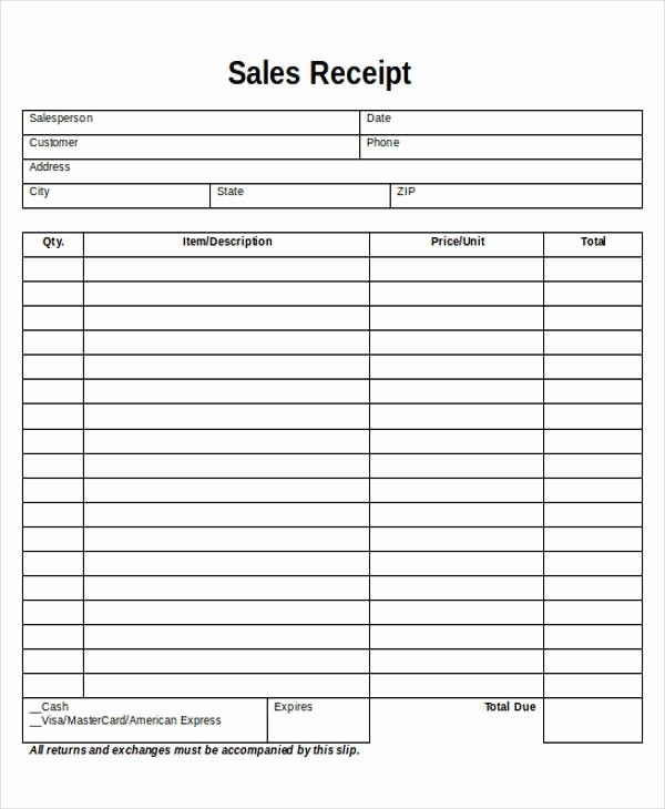 Inspirational 5 Printable Sales Receipt Samples Receipt Template Free Receipt Template Photography Pricing Template