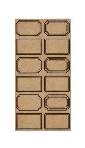 Etiquettes Mini Planches Kraft                                                                                                                                                                                 Plus