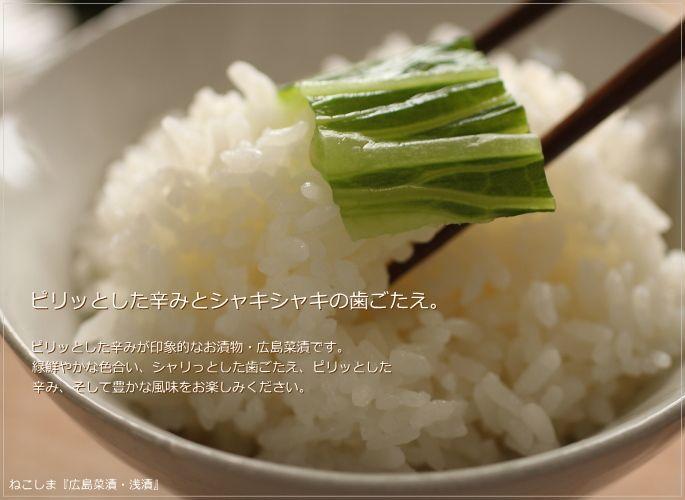 ねこしま 広島菜漬 猫島商店 漬物 通販