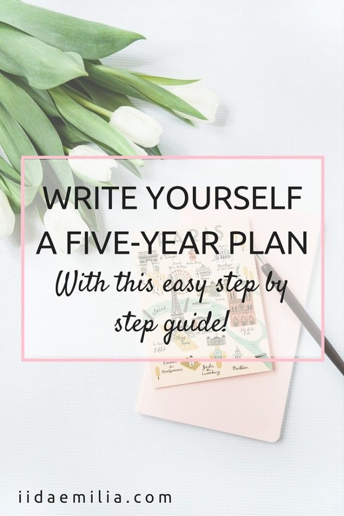 how to write a five year career plan