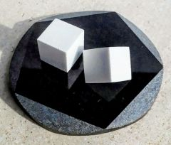 Handmade coaster with stone sugar cubes.  One lump or two?!
