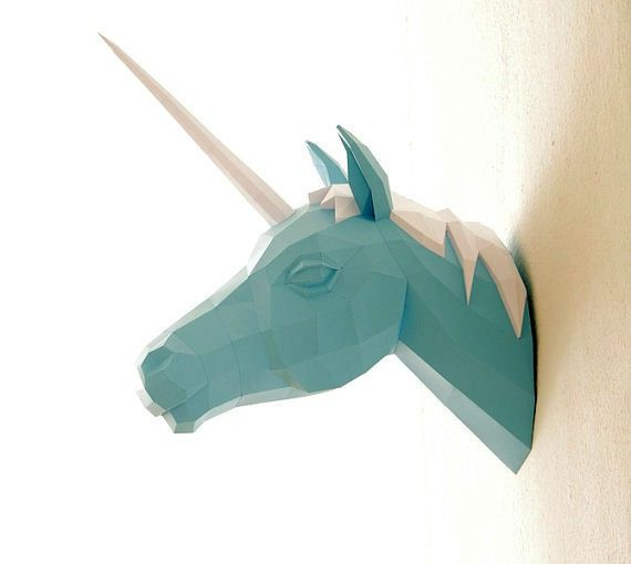 3D DIY paper animal models by Wolfram Kampffmeyer of Paperwolf.