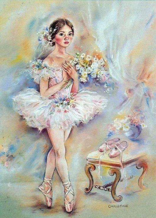 Картинки балерина и цветы, открытки