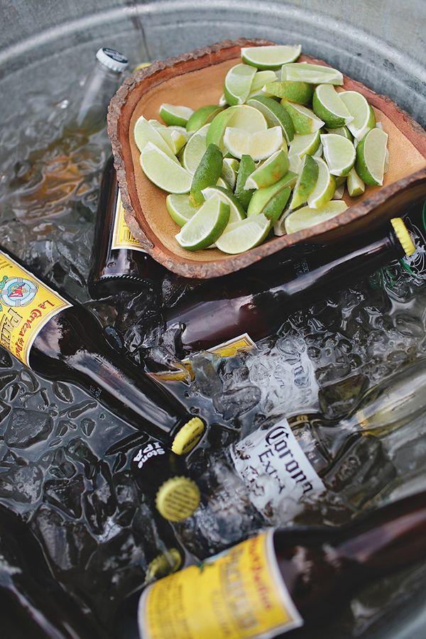 perfect beer bath to serve with tacos. yum. http://www.weddingchicks.com/2013/11/27/comfortable-california-wedding/