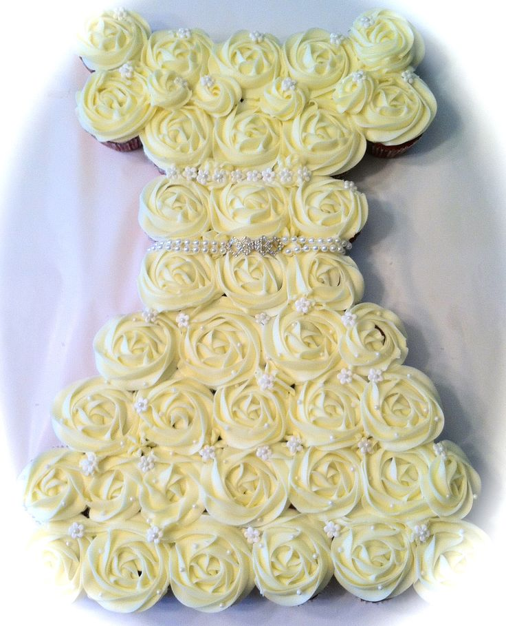Dress Cupcake Cake Wedding Cake