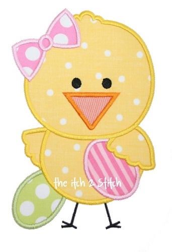 Easter Chick Applique Design