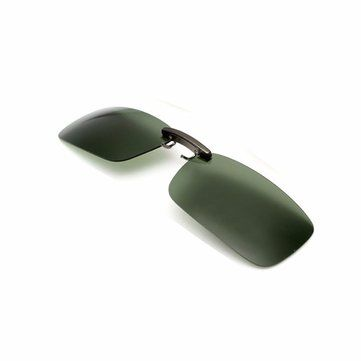 Men UV400 Eyewear Lens Polarized Clip On Sunglasses Lens Fishing Night Driving at Banggood