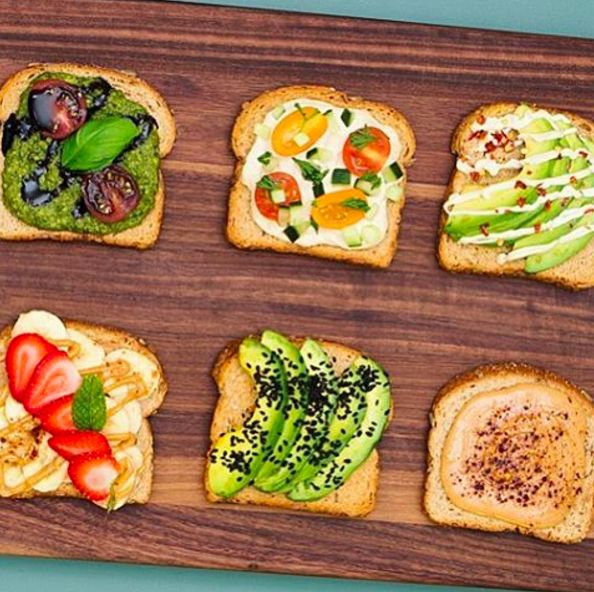 Toast with Toppings   18 Meals Real Healthy People Eat To Start The Year Right - BuzzFeed News
