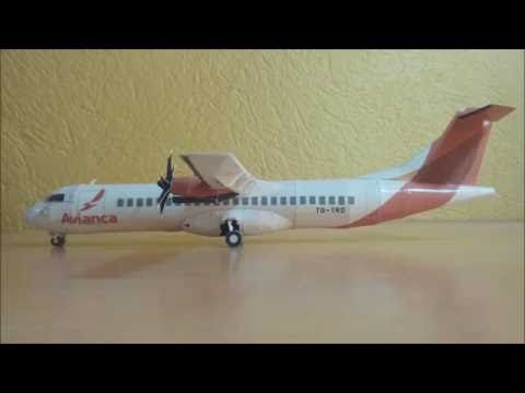 Avianca ATR 72-600 Papercraft - YouTube