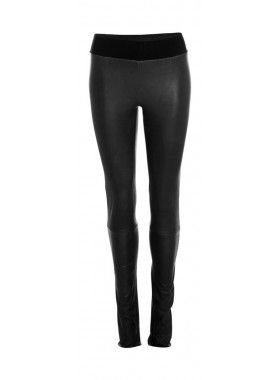 leather Leggings - Lanugo skind/ læder bukser