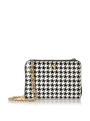 60% OFF LODIS Women's Los Feliz Houndstooth Janelle Cross-Body Phone Wallet (Black/White)