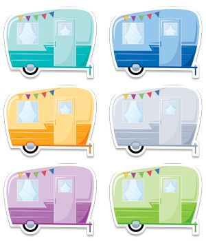 """The classic look of these Vintage Trailers 6"""" designer cut-outs will surely…"""