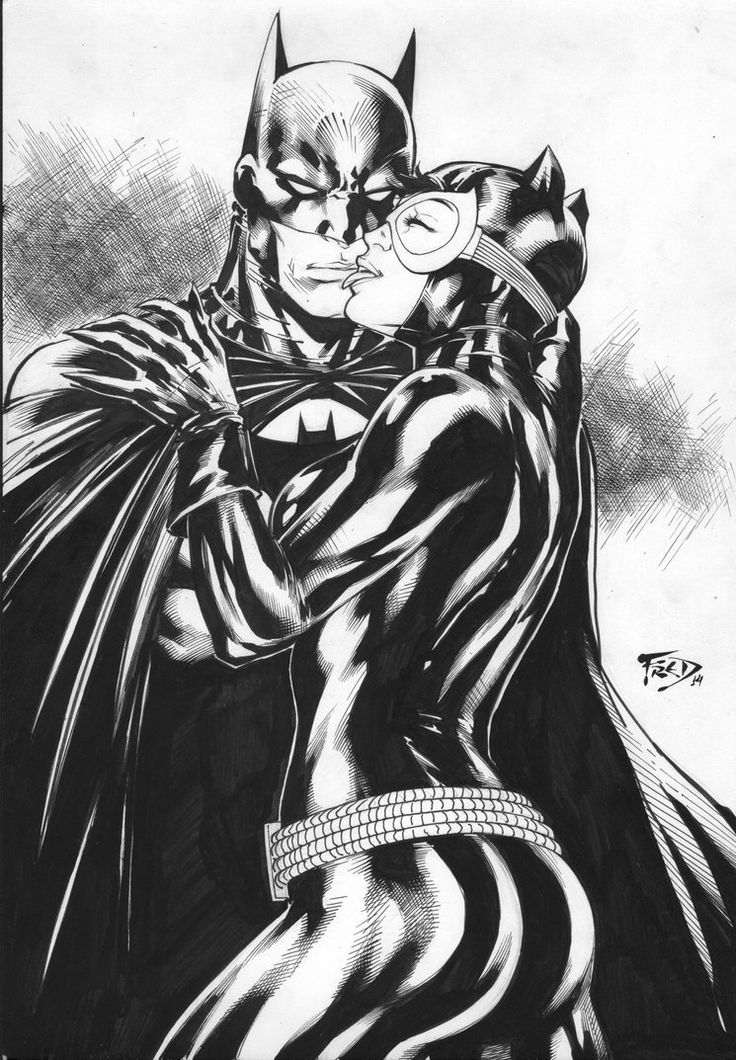 Batman and CatWoman by Fredbenes on DeviantArt