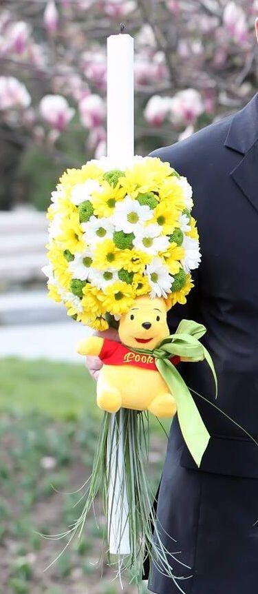 Lumanare boLumanare botez Winnie the Pooh! Pentru mai multe detalii Amery Boutique!