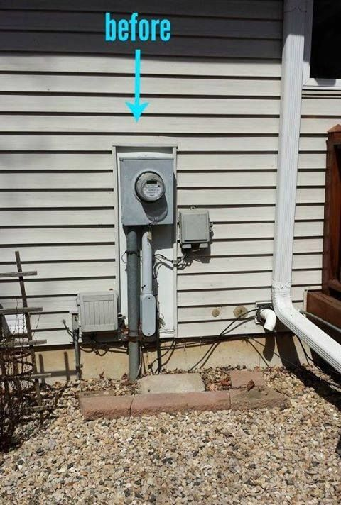 Do you really need to keep looking at that ugly utility box? See how this woman said NO