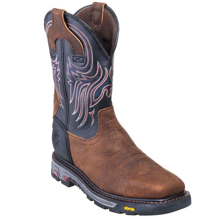 Justin Boots Men's WK2104 Steel Toe EH Waterproof Cowboy Work Boots