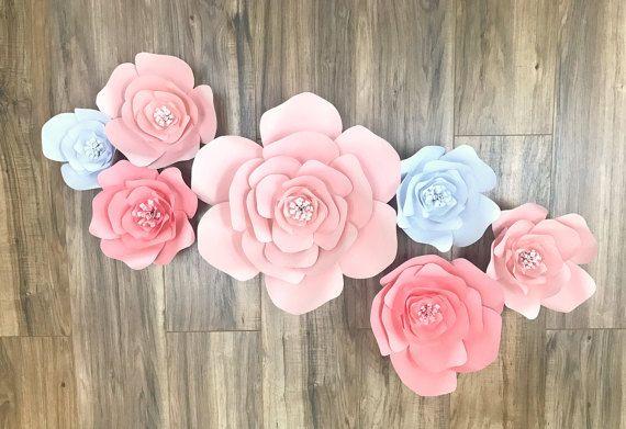 Pared de flores de papel personalizado  telón de fondo