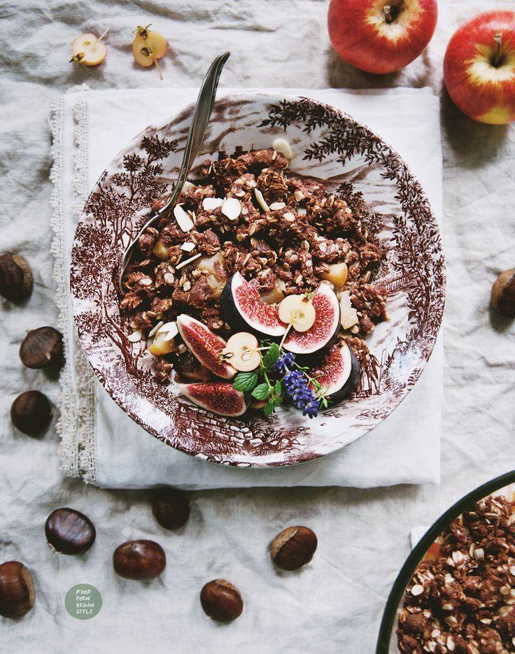 Vegan chestnut crumble with apples / Wegańskie crumble kasztanowe z jabłkami