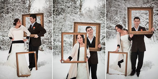 свадебная фотосессии идеи #wedding #bride #groom #winter
