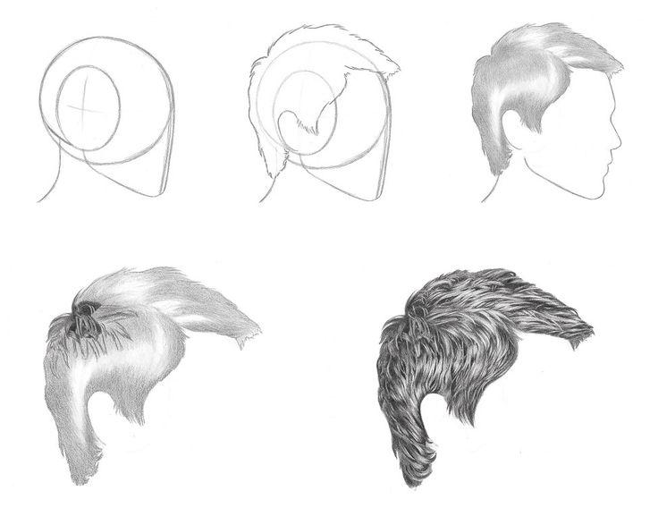 how to draw short hair tutorial RFA