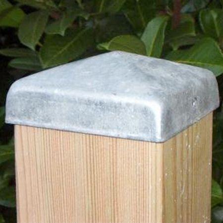 Pfostenkappe aus Stahl | für Pfosten 11 x 11