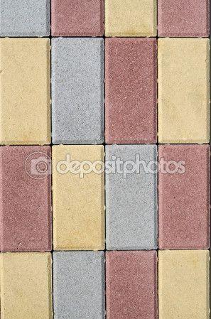 거리의 포장에 대 한 새로운 다채로운 콘크리트 블록 — 스톡 이미지 #87005786