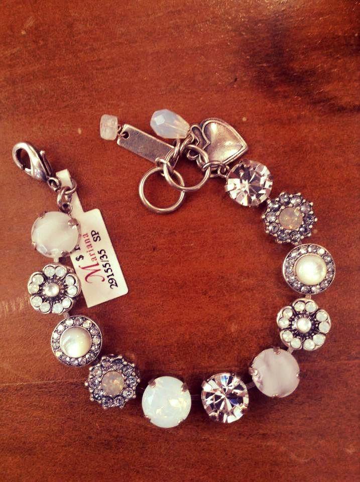 Mariana Bracelet Silver w/ White & Clear