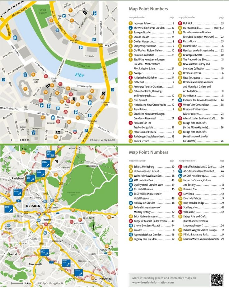 Dresden hotels and sightseeings map Maps Pinterest