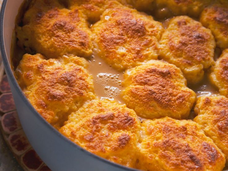 Porky Pot Pie with Cheesy Drop Biscuits recipe from Nancy Fuller via Food Network
