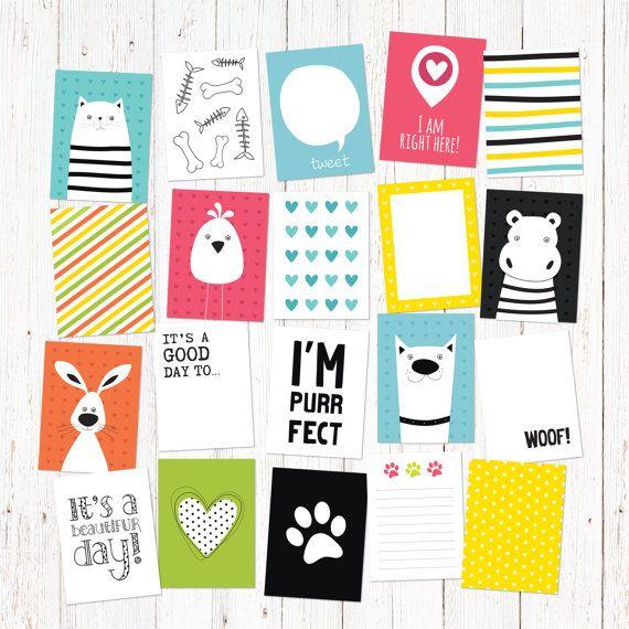 20 cartoon animal theme creative journaling and by GraphicCorner