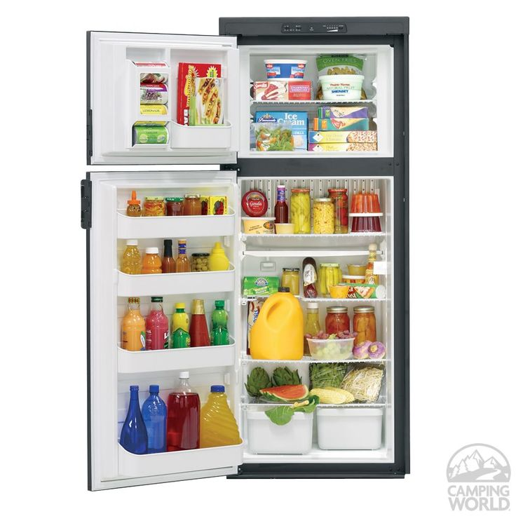 Dometic Americana Plus DM2862 2-Way Refrigerator without Icemaker, Double Door, 8.0 Cu. Ft. - Dometic DM2862RB/RM2862RB - Top-Freezer Refrig...
