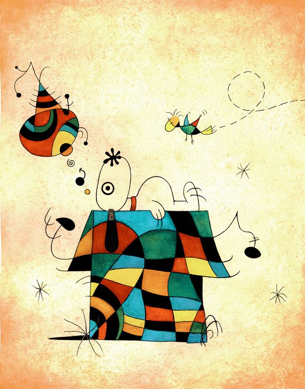 snoopy - abstract