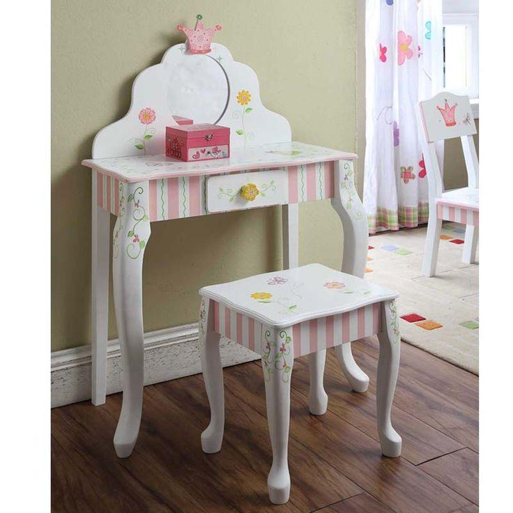 Princess Girls Vanity Set | Girls Vanity Table Set | Quilts Just 4 Kids