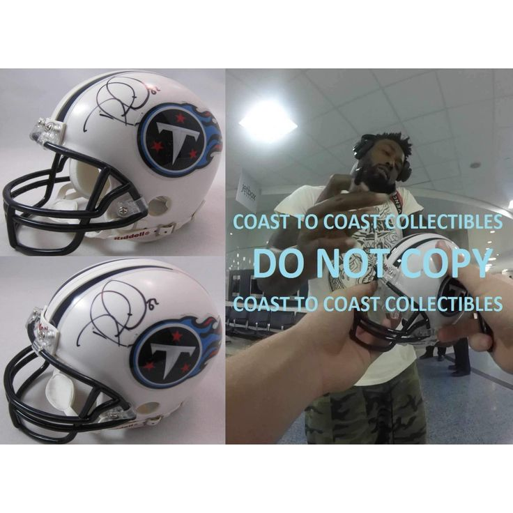 Delanie Walker Tennessee Titans, Signed, Autographed, Football Mini Helmet, a COA with the Proof Photo of Delanie Signing Will Be Included