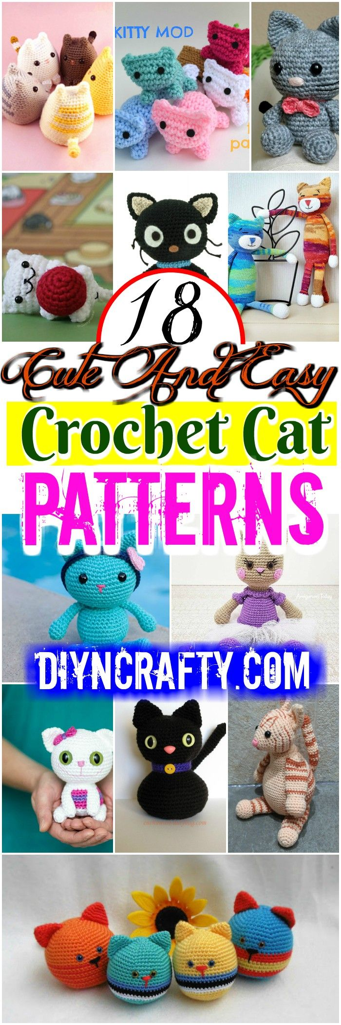 you are good at #crocheting then here is a big list of free #crochet #cat #patterns for you!