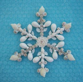 Seashell Ornament Holiday Snowflake Window Wall by OceansofShells, $19.00