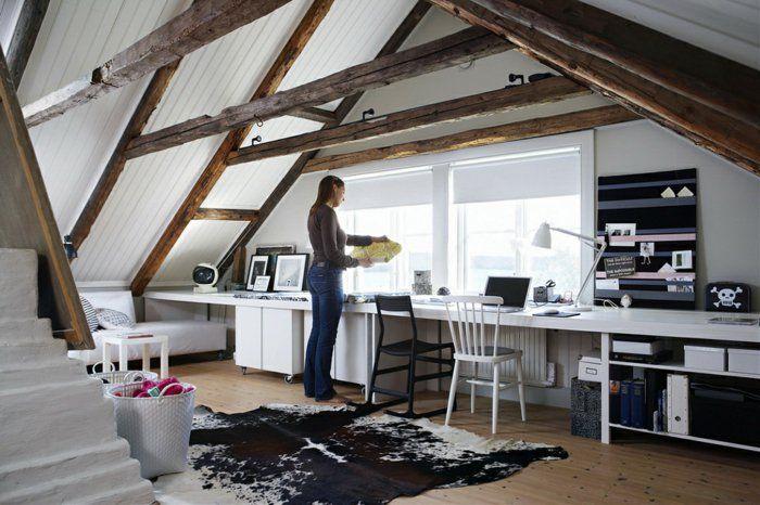 dachbodenkammer als büro benutzen