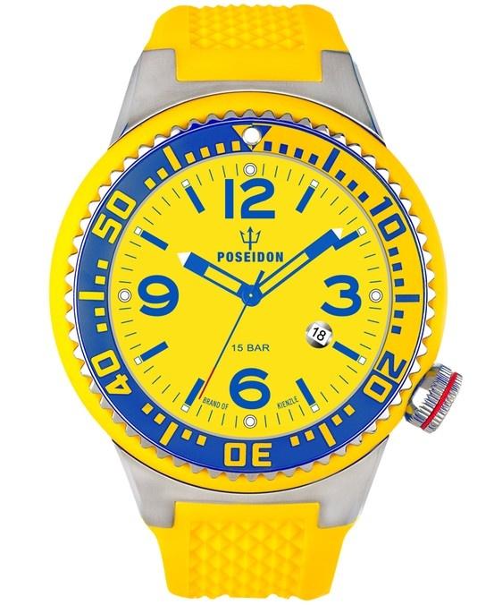 Yellow / Blue POSEIDON watch XL Slim