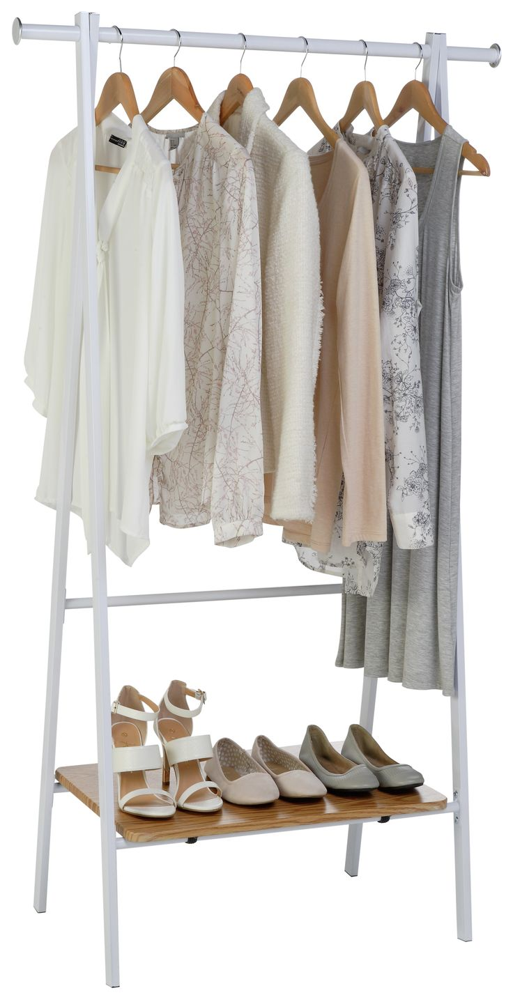 Buy HOME Foldable Clothes Rail - White at Argos.co.uk - Your Online Shop for Hanging rails, Bedroom furniture, Home and garden.