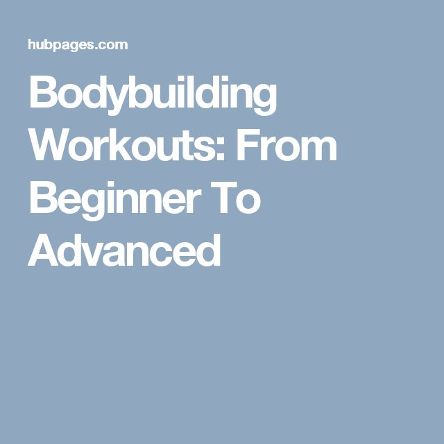 Bodybuilding Workouts: From Beginner To Advanced