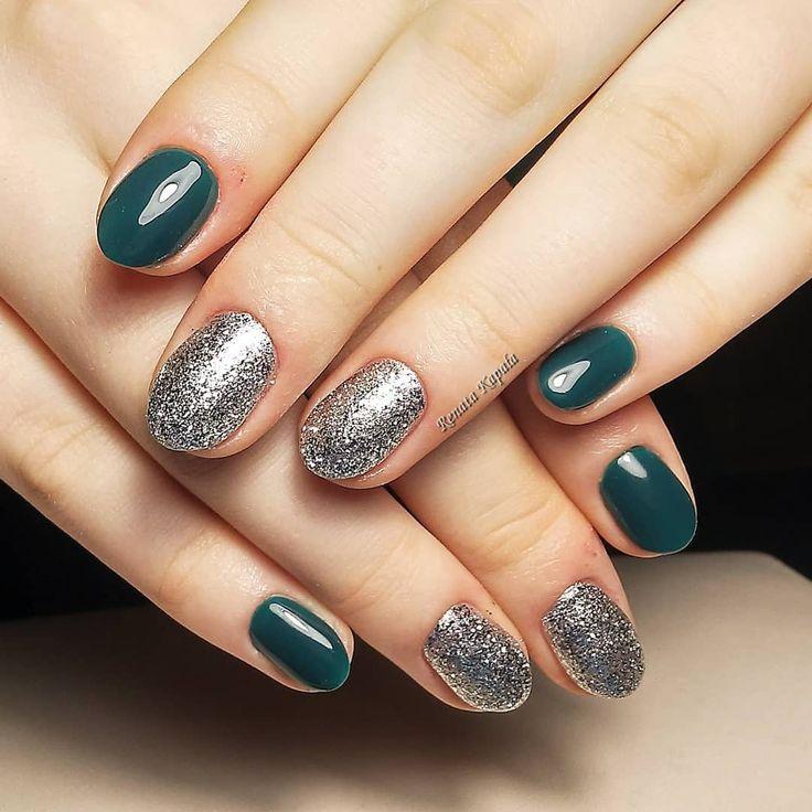 #makear #reformanails #greennails #silvernails #nailartwow #nail2inspire #instanails #instamatki #paznokcie #paznokciehybrydowe #hybrydy #nail #nailswag #nails #nailofinstagram