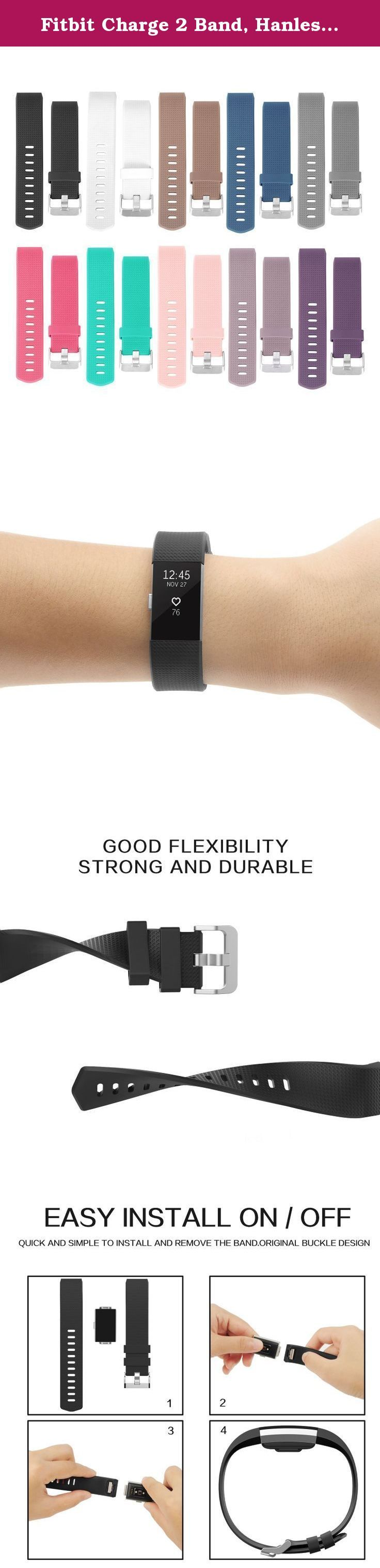 Fitbit Charge 2 Band, Hanlesi TPU Soft Silicone Adjustable Replacement Sport Strap Band for Fitbit Charge 2 Smartwatch Heart Rate Fitness Wristband (10 PCS, 5.1Inch-6.9Inch). 100% Brand New, High Quality Replacements for the Original Wristbands, great as a Spare, or even a gift . 2016 Fashion New Replacement soft TPU Band (No tracker) for Fitbit Charge 2 Heart Rate Fitness Trakcer Wireless Band Wristband Bracelet. If you have any questions with any product by Hanlesi, please feel free to...