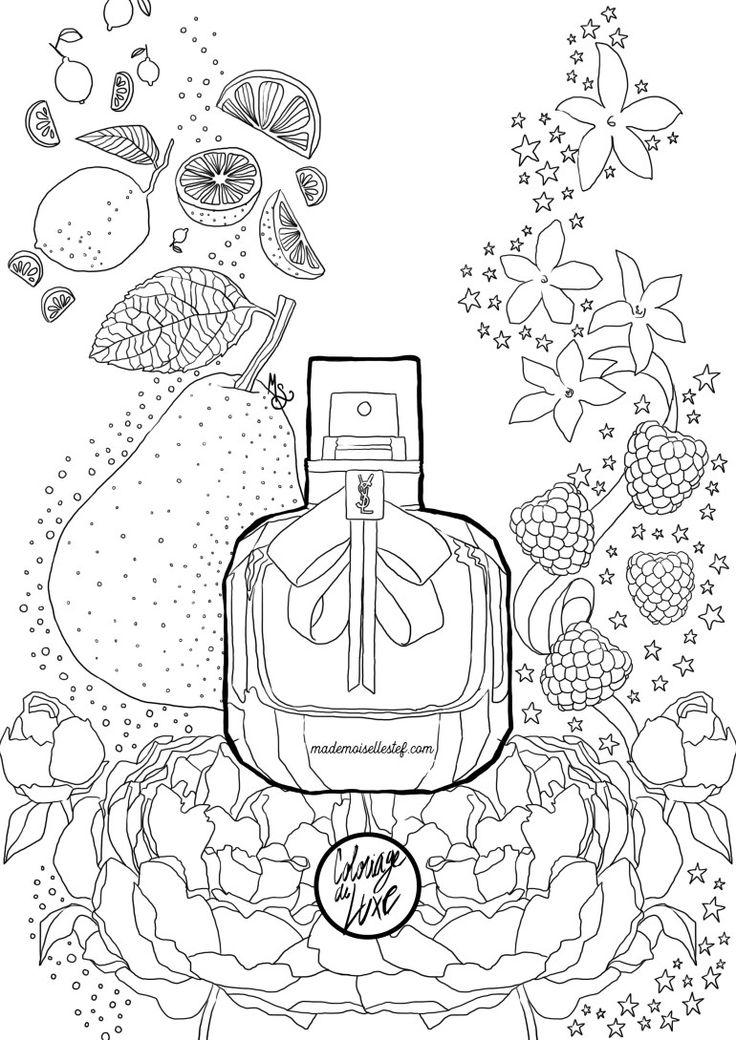 coloriage parfum parisienne yves saint laurent i