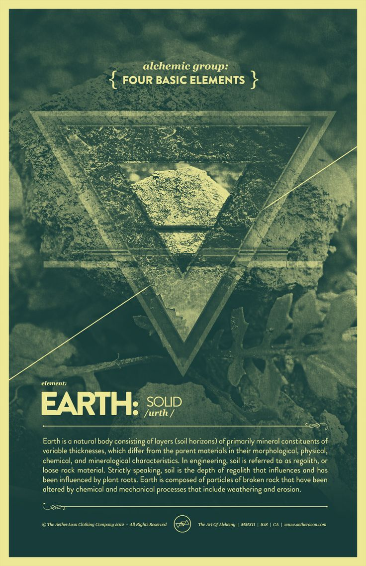 """Vintage Series: Four Basic Elements - Earth,"" by Raul Esquivel #bos"