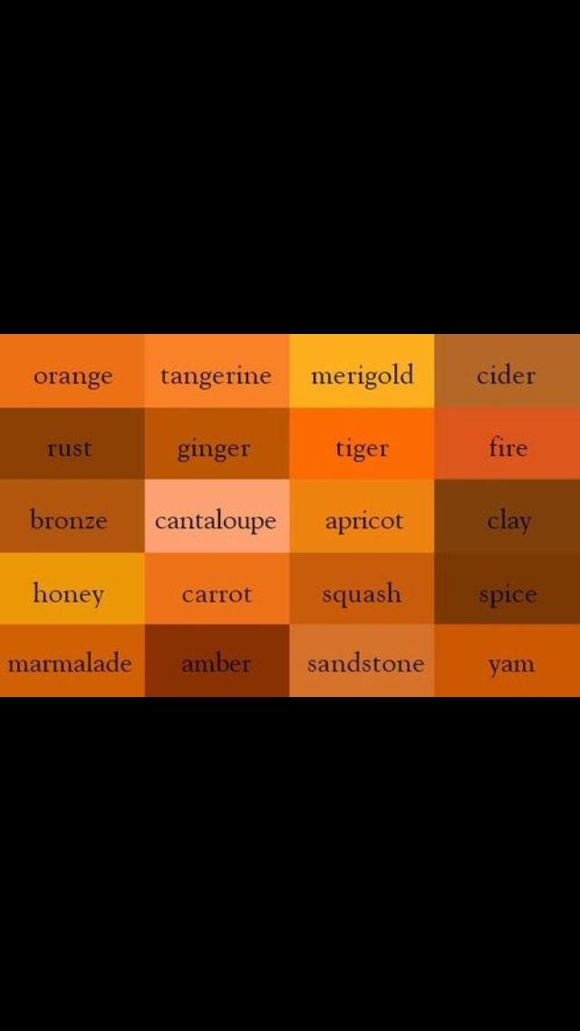 Oranges Color Names Colours Orange Color