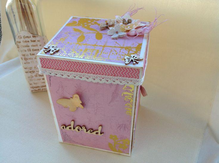 caja explosiva, explosing box, album fotos y bote de chuches, album personalizado, regalo original