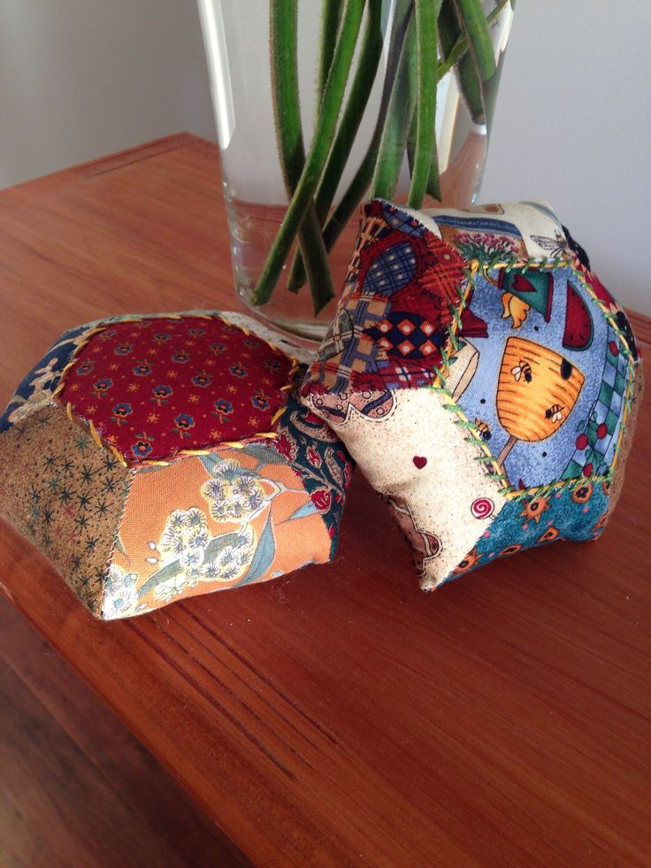 #patchwork #pincushion #craft #diy #handmade