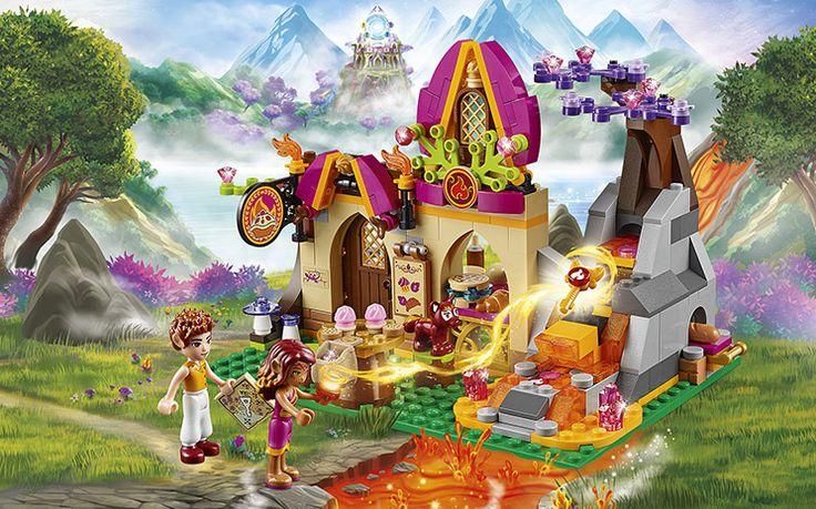 [✓]  LEGO Elves -- Azari and the Magical Bakery. Includes 2 Minidoll Figures: Azari Firedancer, the Fire Elf and Johnny Baker, plus Azari's fox friend, Flamy